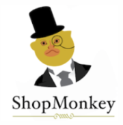 ShopMonkey marmoset in a top hat and monocle